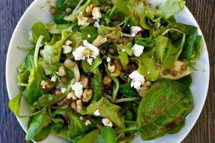 lentil and greens salad