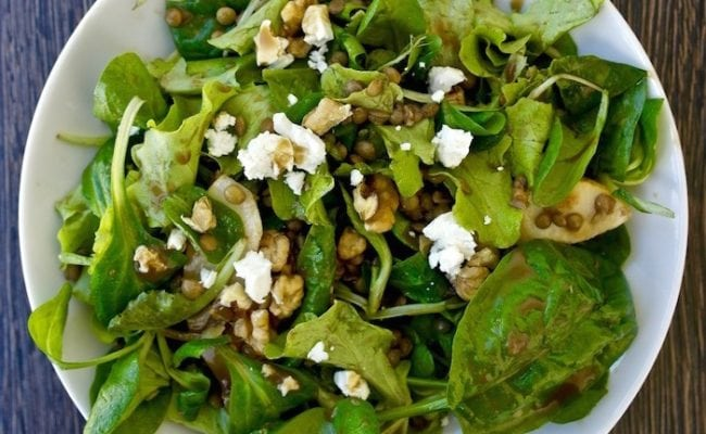 lentil and greens salad
