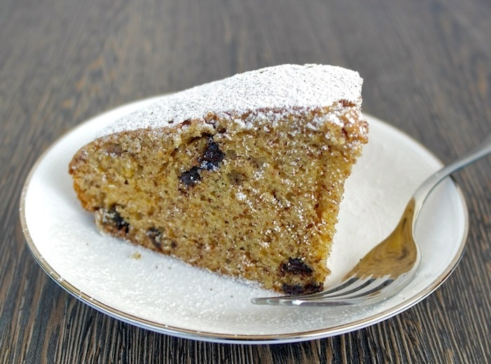Greek Walnut Cake with Olive Oil and Dark Chocolate Chips – Karithopita