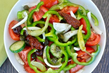 Greek island tomato salad