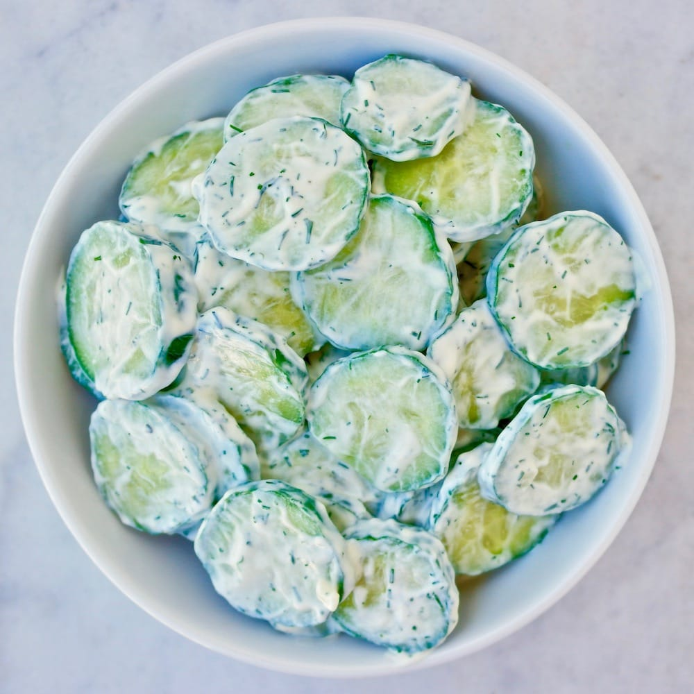 Cool Tzatziki Cucumber Salad