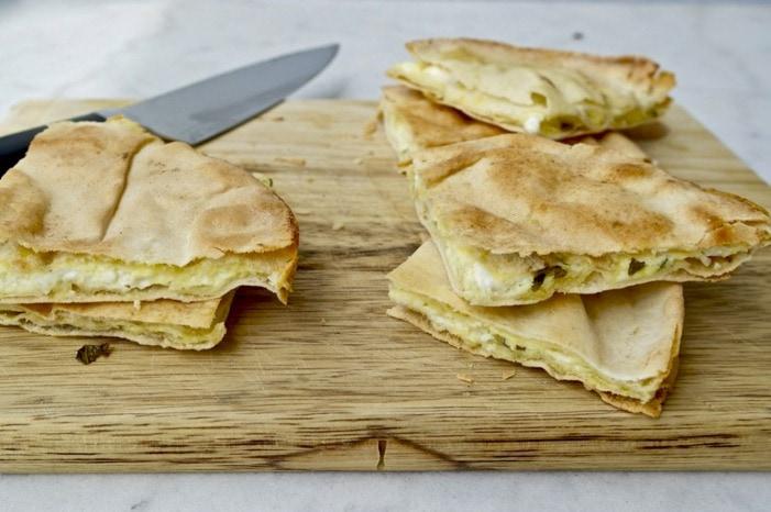Easy Pita Bread Greek Cheese Pie- Tiropita