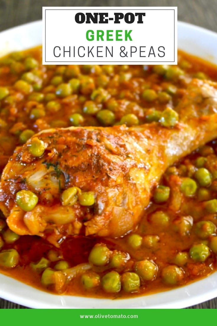 One-Pot Greek Chicken and peas