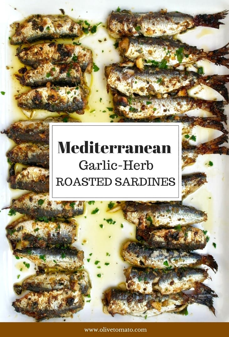 Roasted Sardines with Garlic and Herb Crust