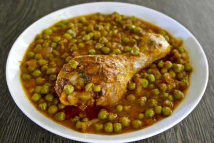 One Pot Greek chicken and peas