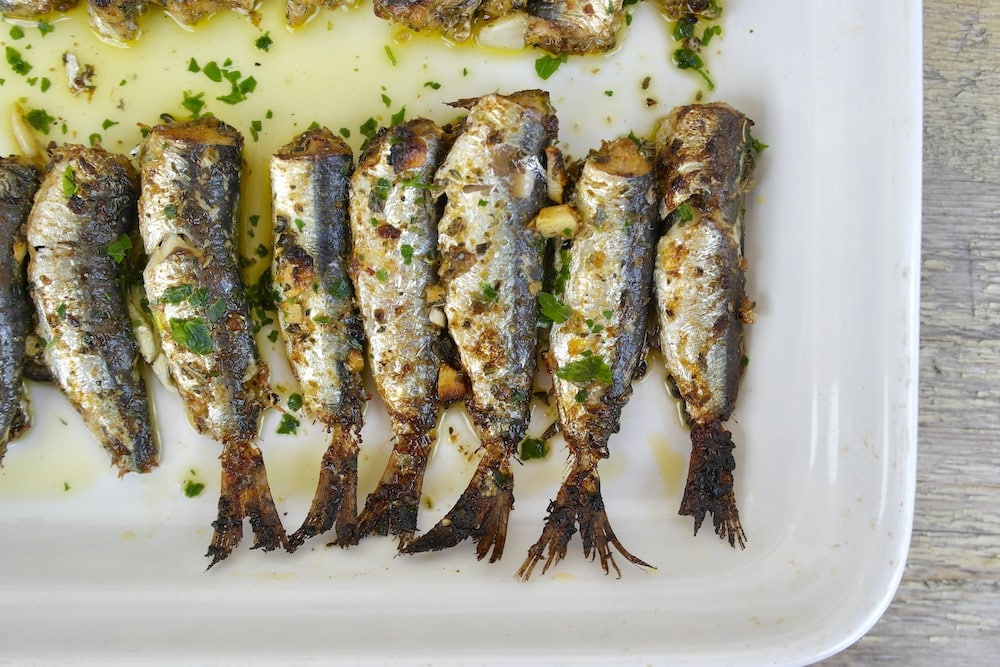 Herb Crusted Roasted Sardines