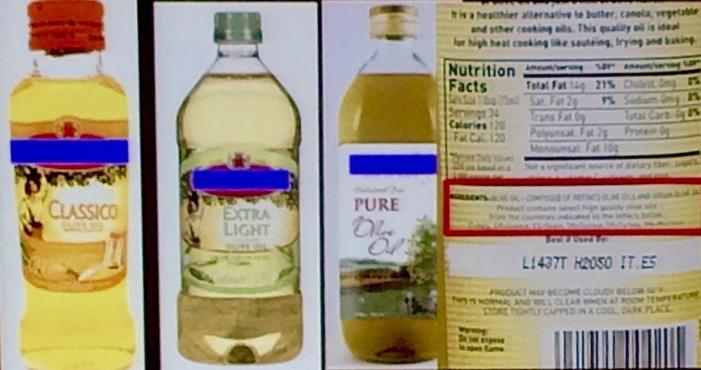 fake olive oils
