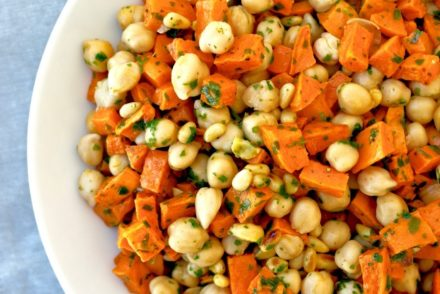 chickpea and sweet potato salad