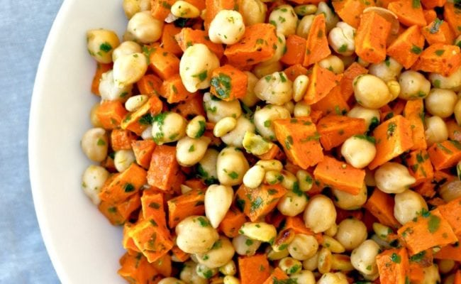 chickpea and sweet potato salad