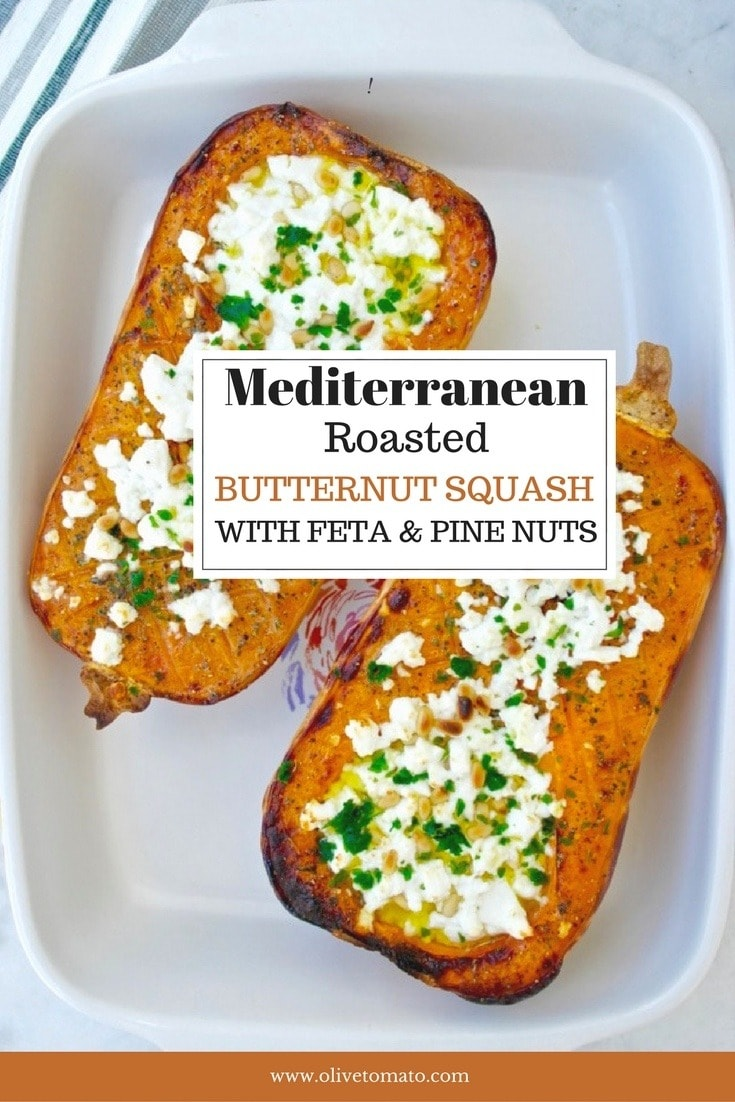 Baked Butternut Squash with Feta