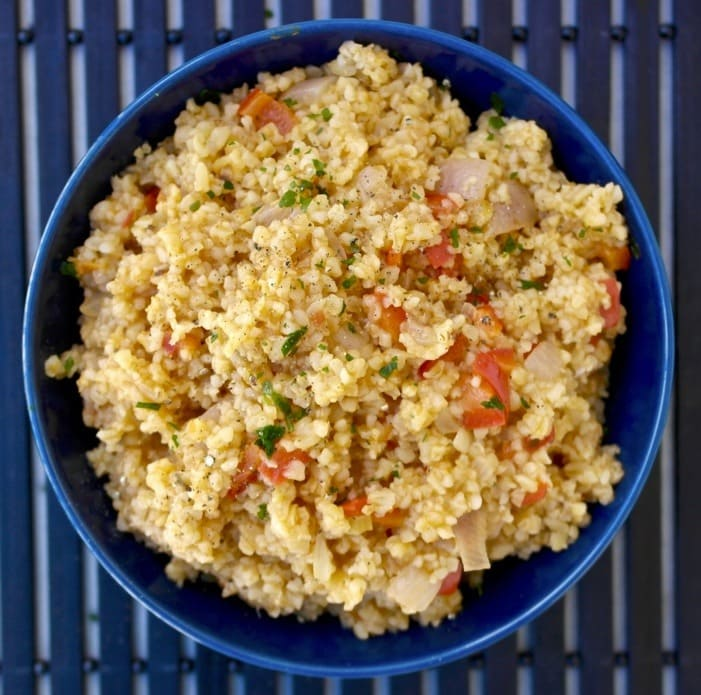 Warm Bulgur Wheat with Vegetables