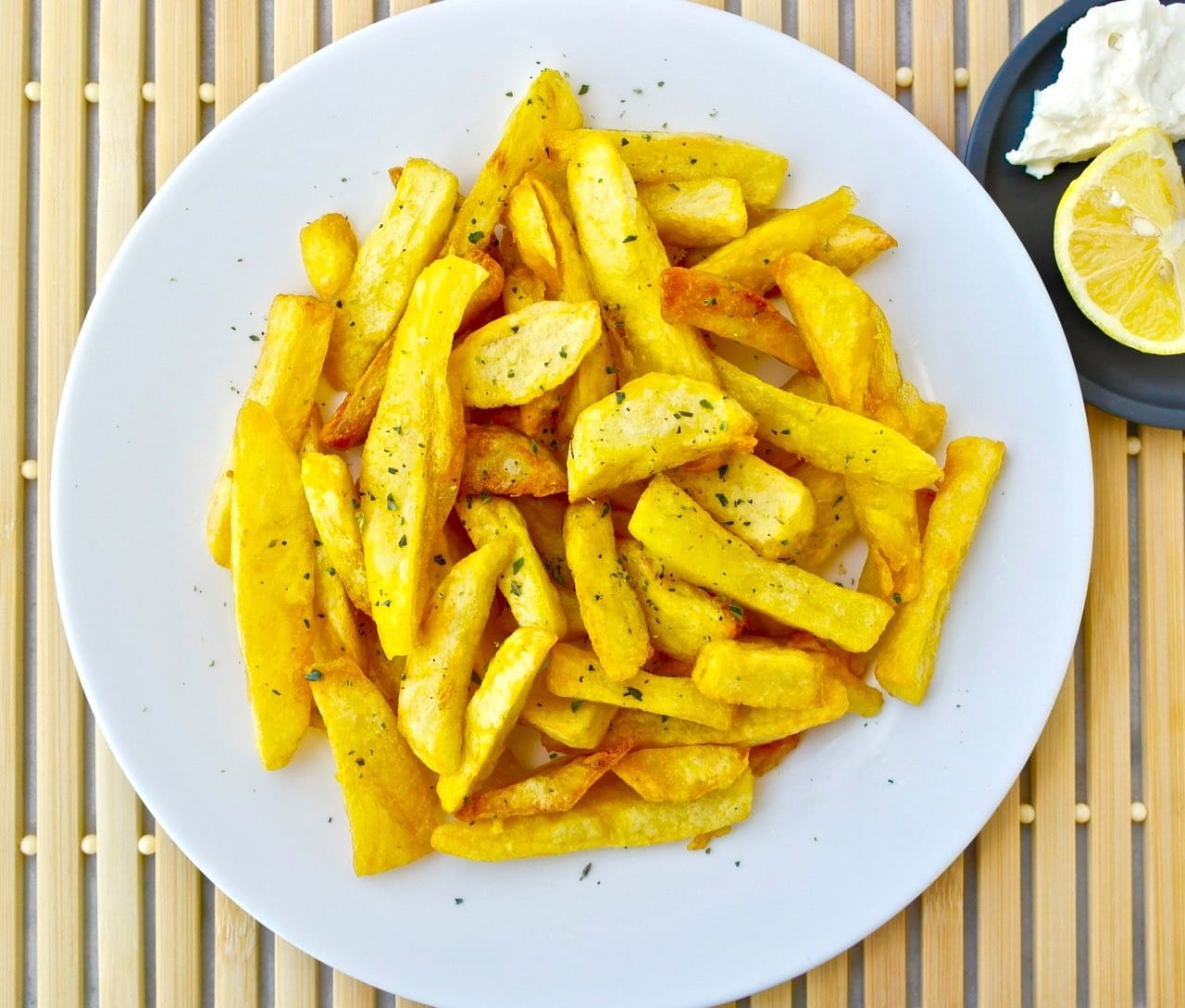 Olive oil fries