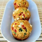 Feta Spinach Red pepper muffins