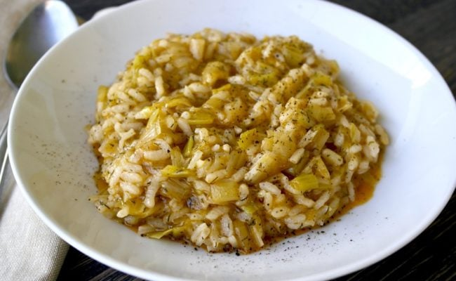 Greek Leeks and Rice Prasorizo