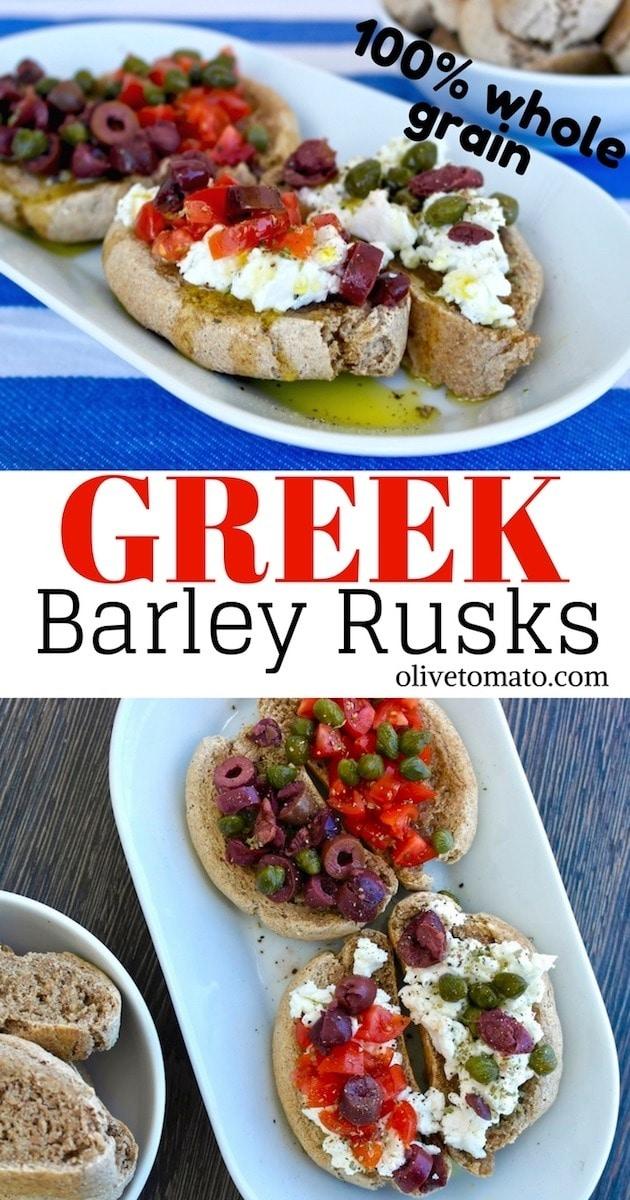 Greek Barley Rusk recipe