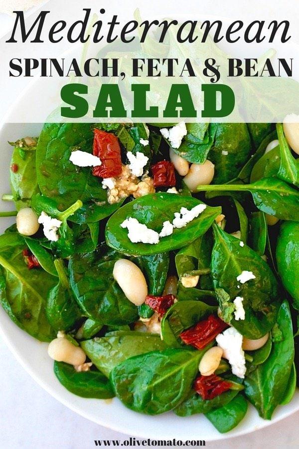 spina, feta, bean salad