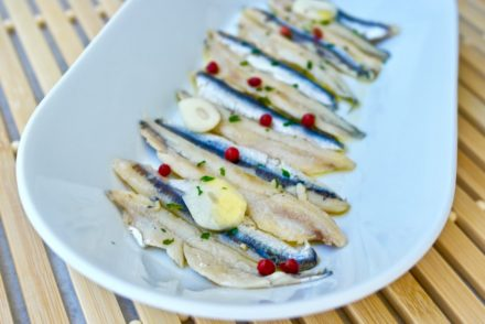 Greek Marinated Anchovies