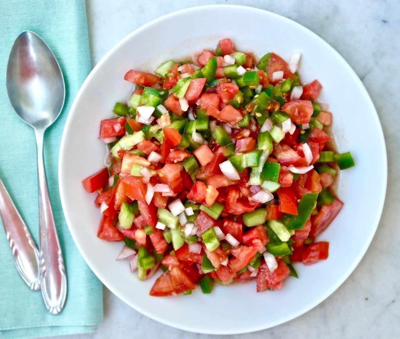 Spanish Tomato Salad Pipirrana