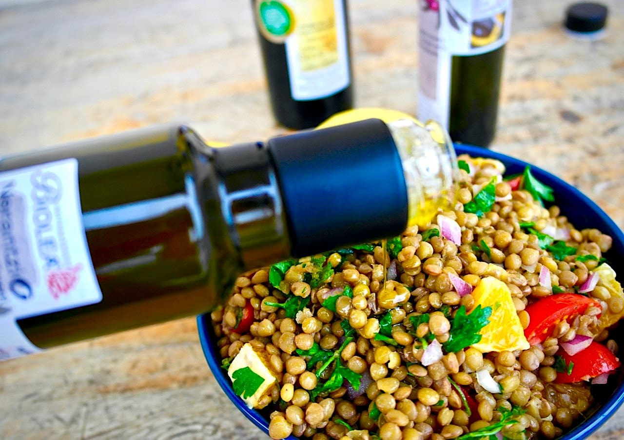 Greek lentil salad