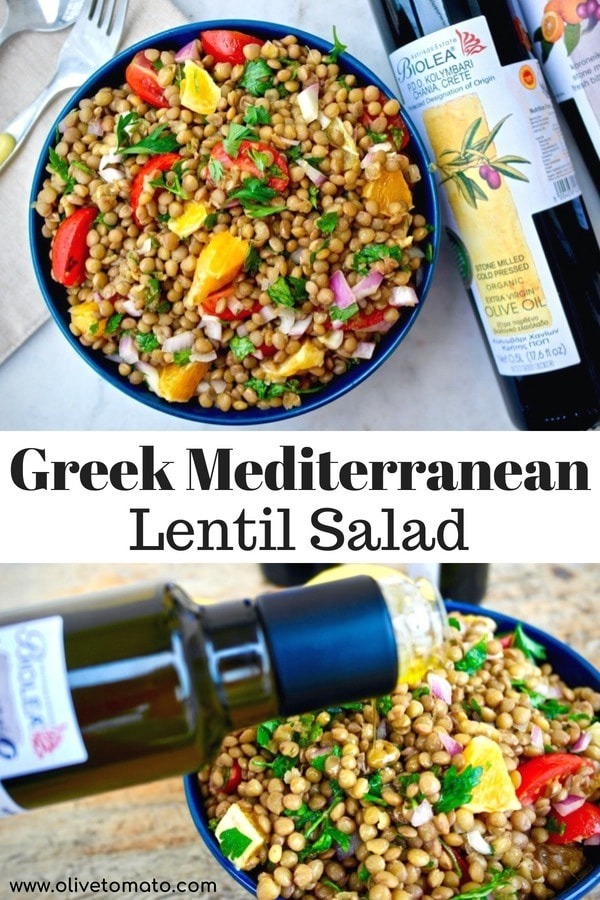Greek Mediterranean Lentil Salad
