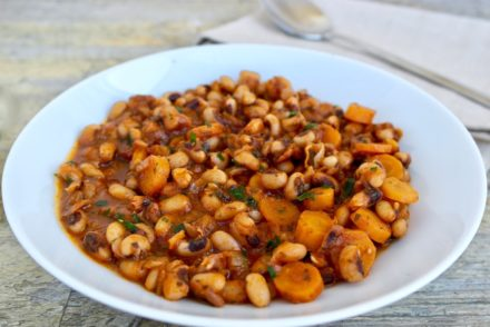 One Pot Greek Black Eyed Peas