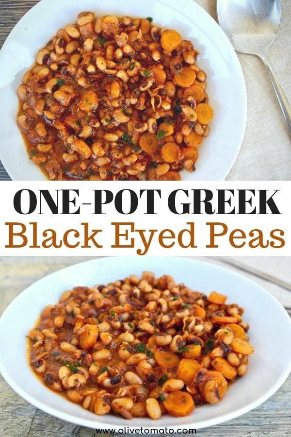 One Pot Greek Black eyed peas