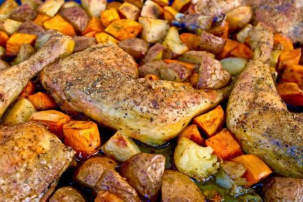 Greek sheet pan chicken
