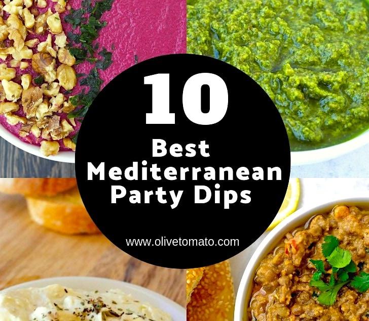 10 Delicious Mediterranean Party Dips