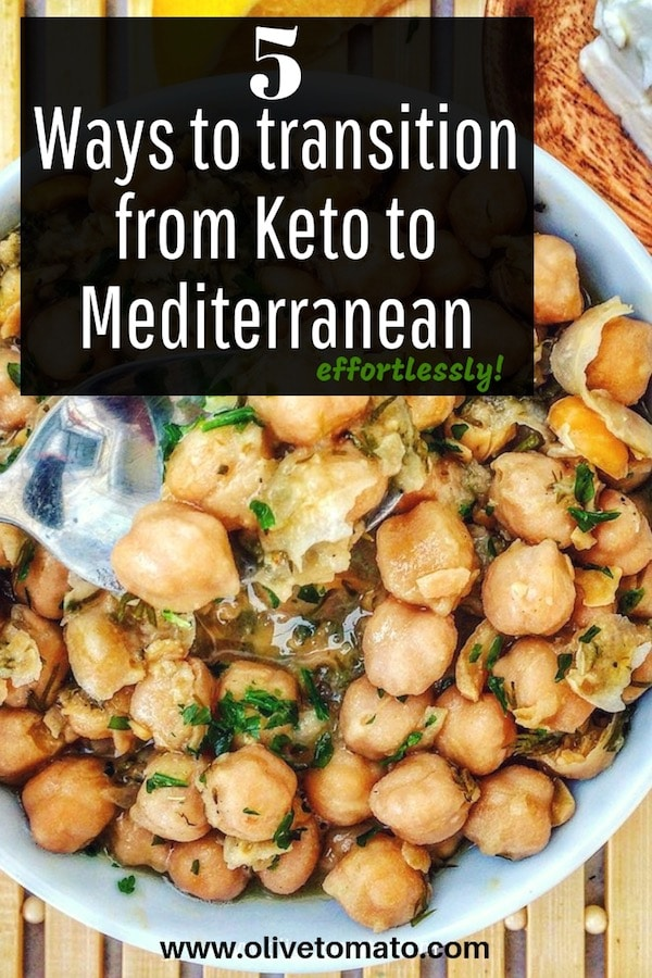 5 ways to transition from a Keto Diet to a Mediterranean Diet. Avoid Weight loss plus Keto Friendly Mediterranean Recipes. #Mediterraneandiet #Keto #recipes #diet #ideas #weightlos #nutrition #mediterranean