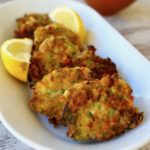 Greek zucchini patties with feta and herbs