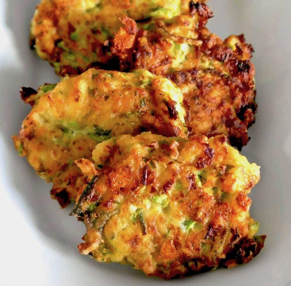 Greek zucchini patties with feta