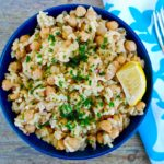 Greek chickpeas and rice #chickpeas #beans #rice #easy #recipe #vegan #mediterranean #greek #diet