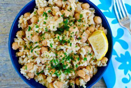 Greek chickpeas and rice #chickpeas #beans #rice #easy #recipe #vegan #mediterranean #greek #diet