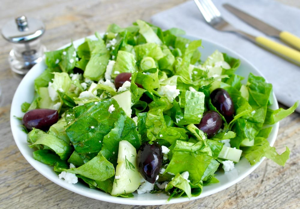 Greek green salad