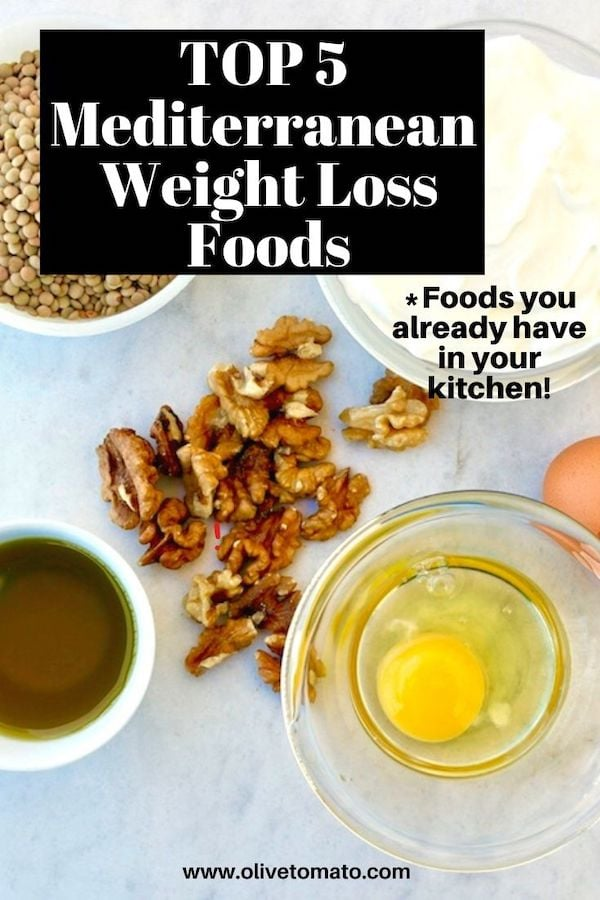 Mediterranean weight loss foods