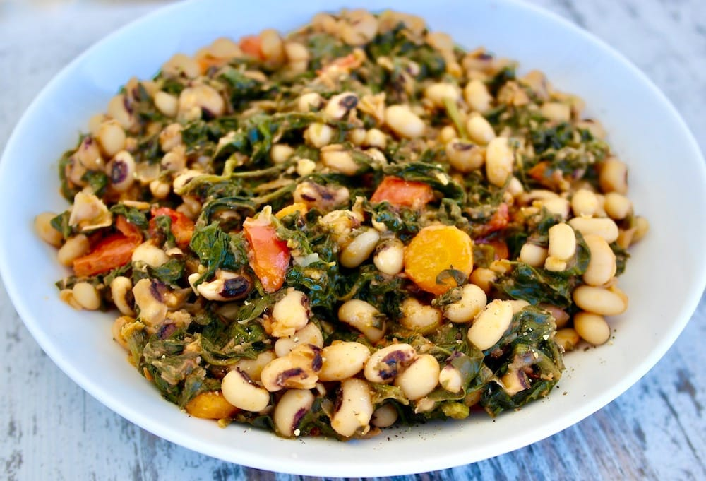 Black-Eyed Peas and spinach recipe