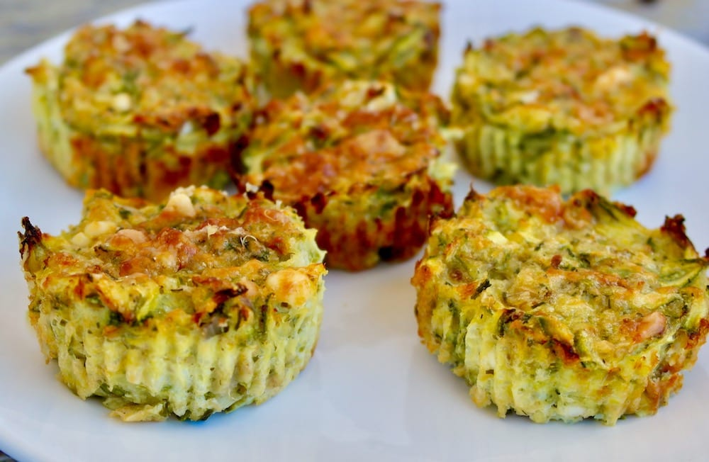 greek zucchini and feta muffins