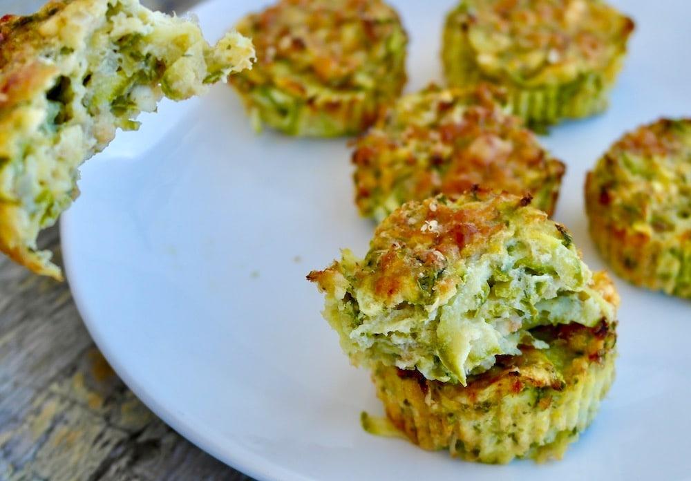 zucchini and feta muffins