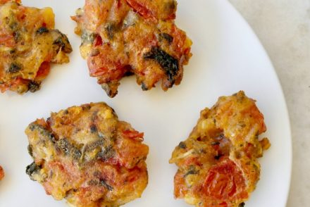GREEK TOMATO PATTIES FROM SANTORINI-DOMATOKEFTEDES