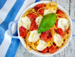 Baked Pasta with Sauteed Cherry Tomatoes and Fresh Mozzarella