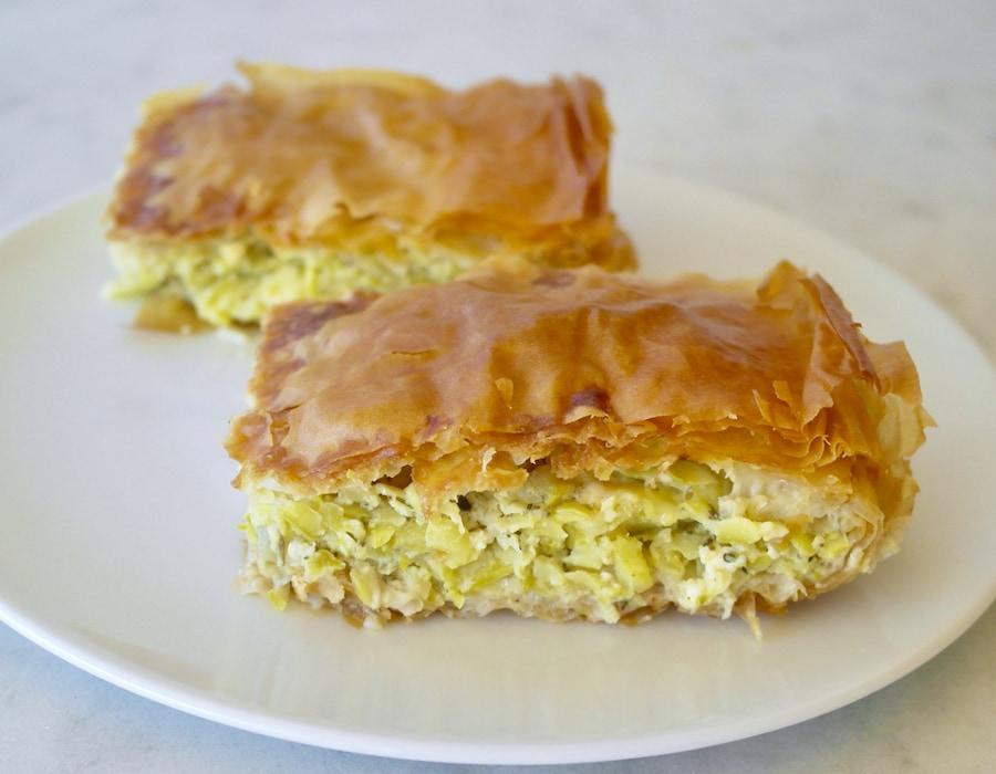 Greek zucchini and feta pie