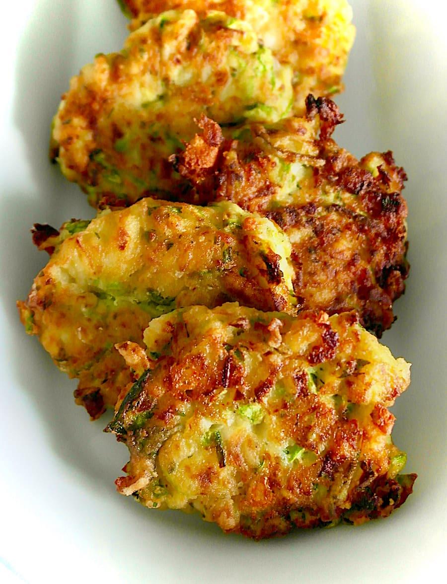 Greek zucchini feta fritters