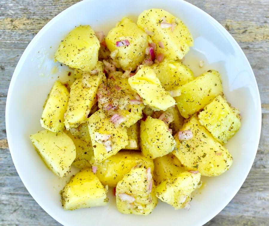 Greek no-mayo potato salad