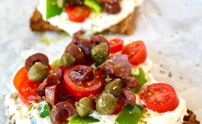 Mediterranean Feta Toast