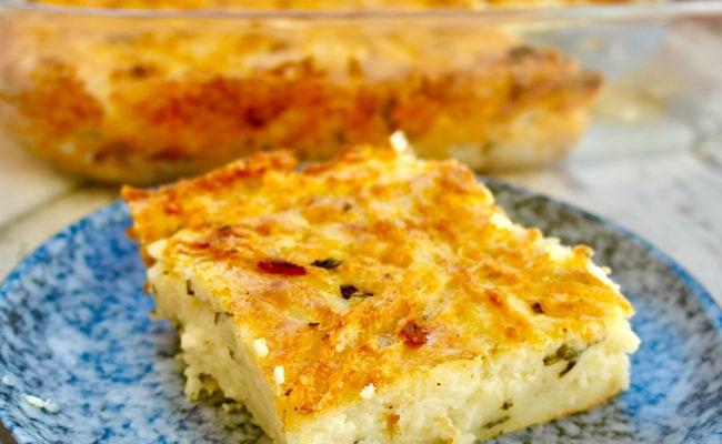 Greek Cheesy Mashed Potato Casserole