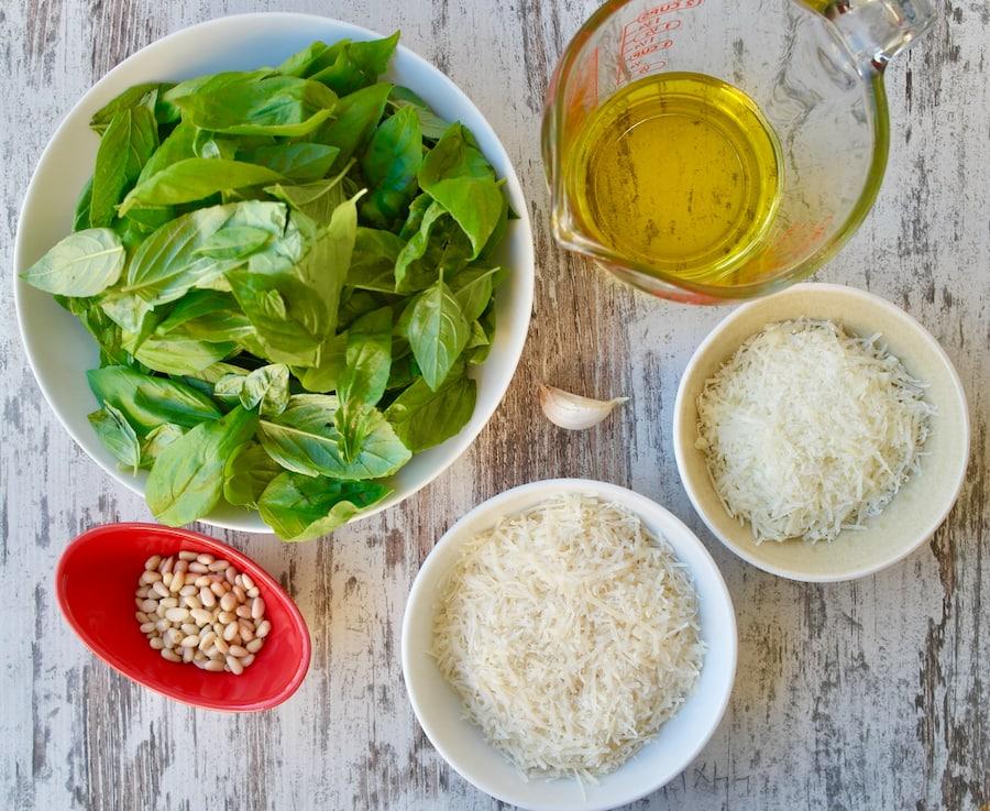 Classic Basil Pesto Sauce Ingredients